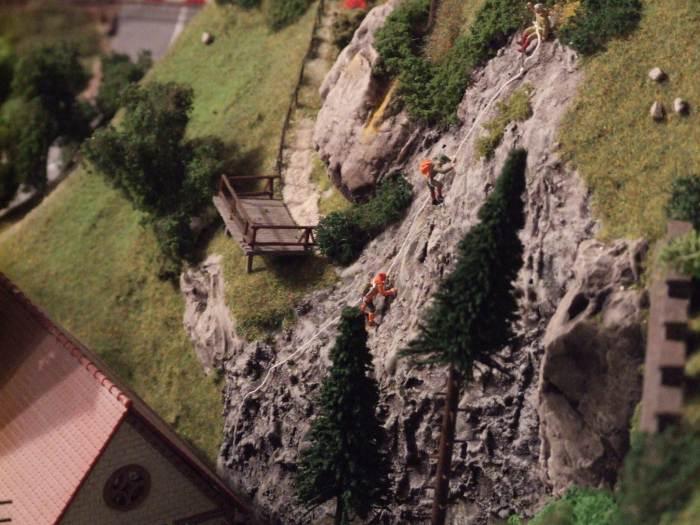 Bergsteiger am Burgberg